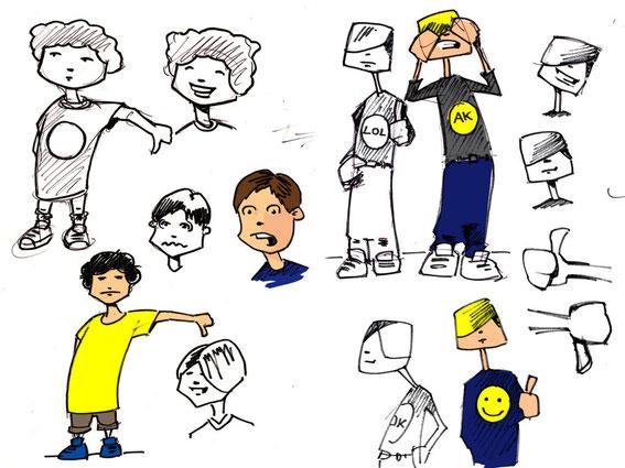 Character studies © Jürgen Blankenhagen 2010