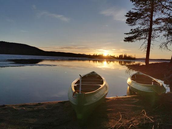 Kanu in Schweden, Kanu Tour, Kanu fahren Lappland