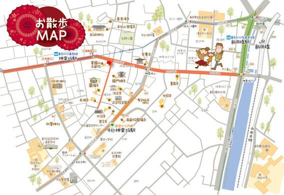 Kagurazaka map