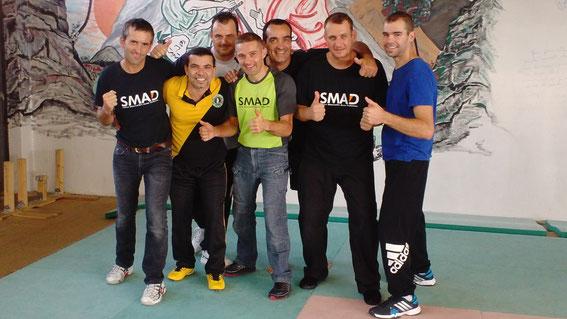 L'équipe du SMAD avec Alvaro. Stage très intéressant, on affine nos compétences !