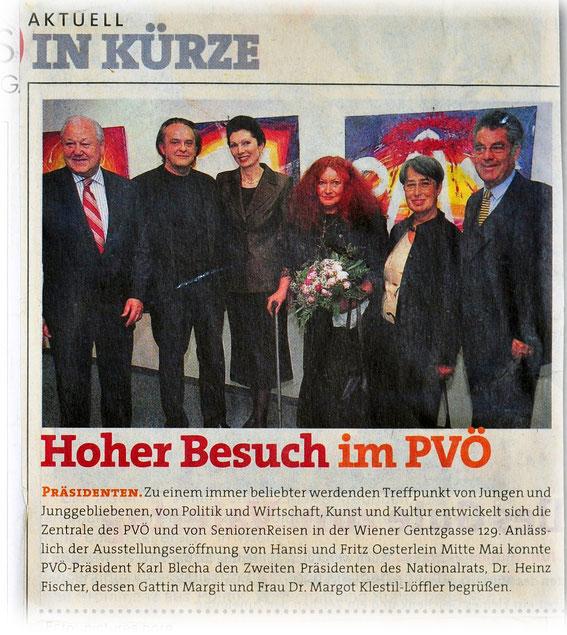 Hansi und Fritz Oesterlein Ausstellung in der Zentrale des PVÖ
