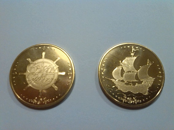Efteling coin 2 (front - backside)
