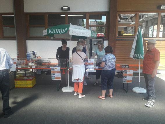 Kuchenverkauf in Weilimdorf  vielen Dank für Eure Hilfe, Spende!