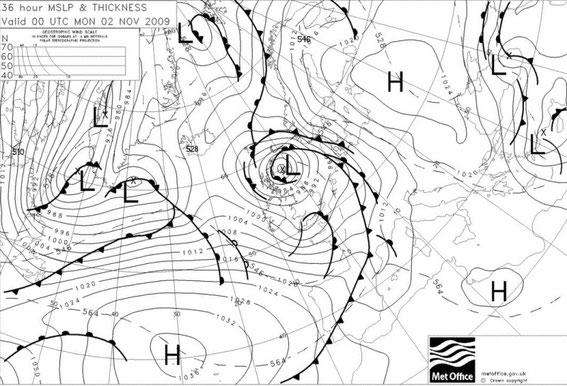 Europawetterkarte Vorhersage 36 Stunden