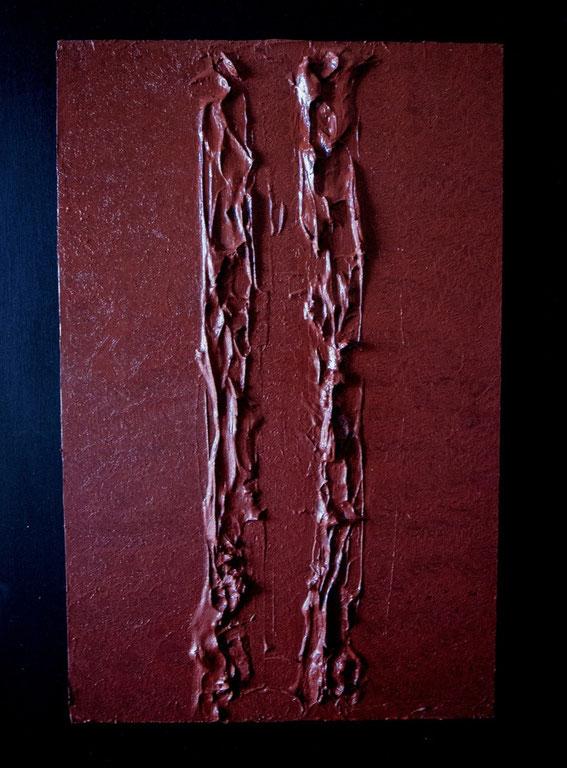 La passione.Acrilico su legno..60x30.2014.