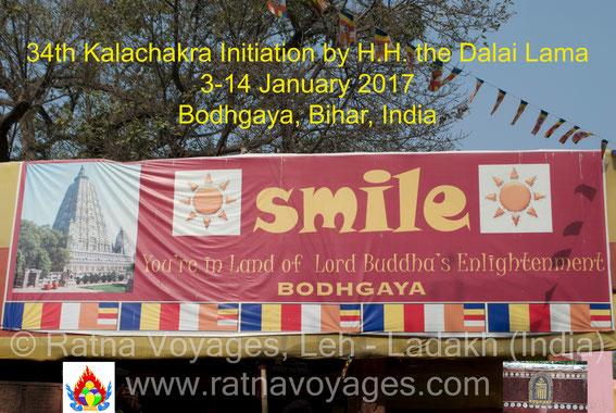 Bodhgaya Bihar India His Holiness Dalai Lama Kalachakra