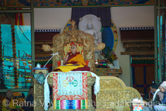 His Holiness XIVth Dalai Lama during the 33rd Kalachakra Initiation in Ladakh