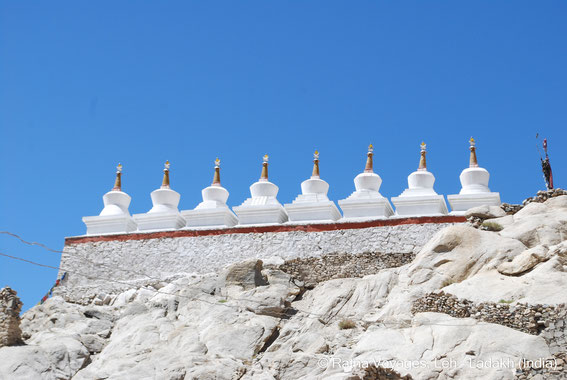 Eight Great Stupas at Shey Palace, Shey, Ladakh (India)