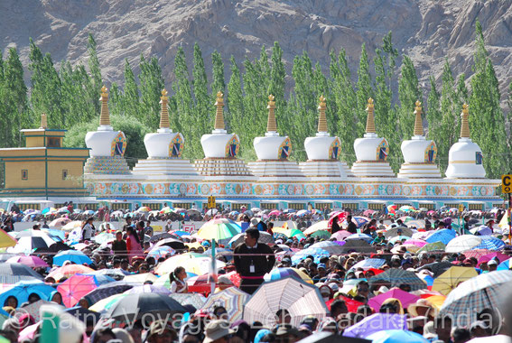 "Eight Great Stupas at ""Jivey Tsal"", Choglamsar-Shey, Leh, Ladakh (India)"