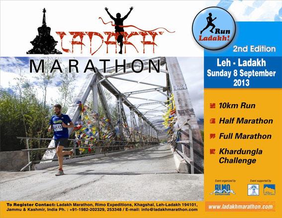 Marathon, Ladakh Marathon 2013, Leh, Ladakh, India, Khardungla, maratona, ladakhmarathon, Shey, Thiksey, Hemis, Lamayuru, Alchi, Shanti Stupa, wolrd's highest marathon