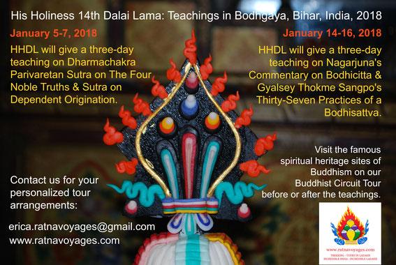 Teachings by His Holiness Dalai Lama 2018 Bodhgaya Bihar India