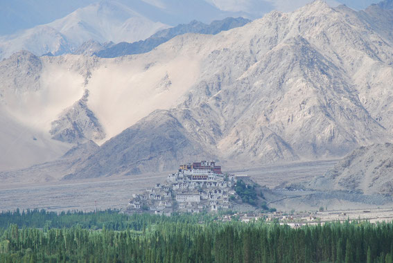Thiksey Monastery, view from Stakna