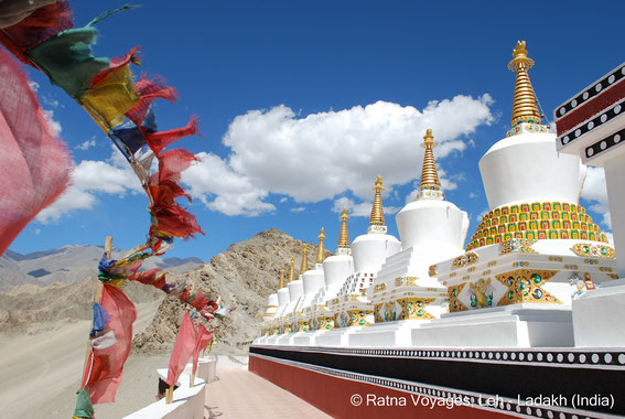 Eight Great Stupas at Thiksey Monastery, Ladakh (India)