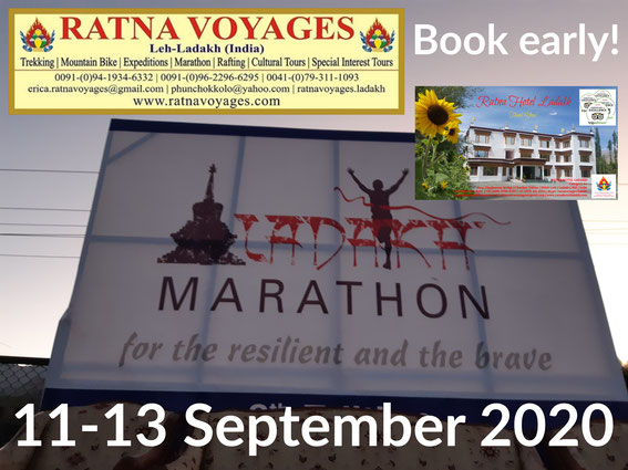 Ladakh Marathon 2020 Book early at Ratna Hotel Ladakh