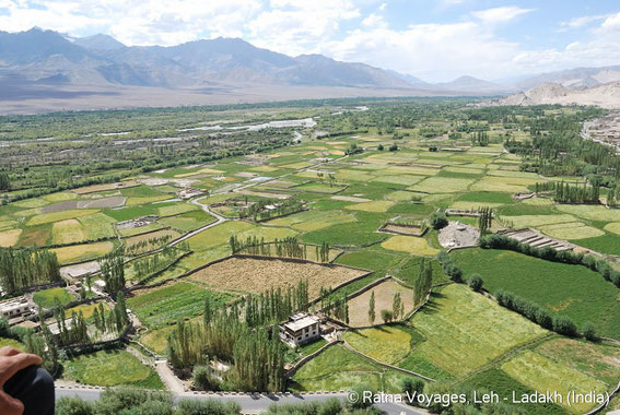 Beautiful view on Indus Valley from Thiksey Monastery