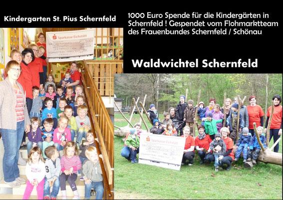500 EUR Spende vom Flohmarktteam Schernfeld - Vielen Dank dafür, ihr seid die Größten!
