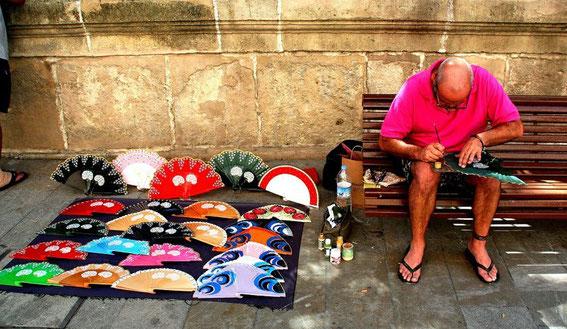 Malaga, Fächermaler