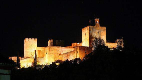 Granada, Alhambra nachts