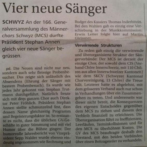 Bote der Urschweiz - 9. März 2016