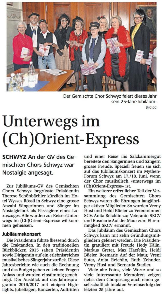Bote der Urschweiz - 8. April 2016