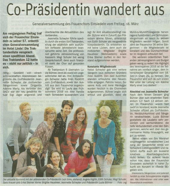 Einsiedler Anzeiger - 24. März 2016