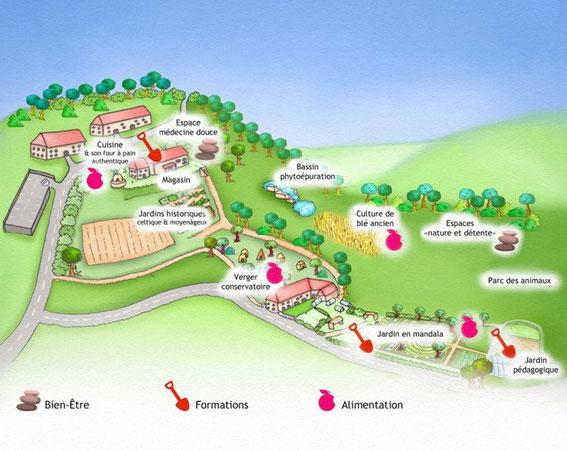 formation permaculture et jardin bio pdagogique curgy plan de lcocentre - Jardin Permaculture