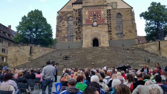 """Die """"Haller Treppe"""" als Bühne"""