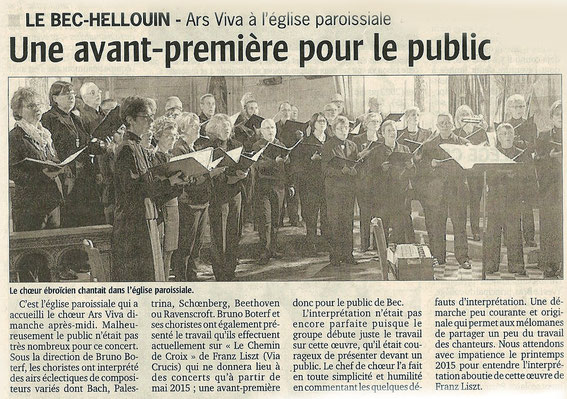 Courrier de l'Eure, 15 octobre 2014
