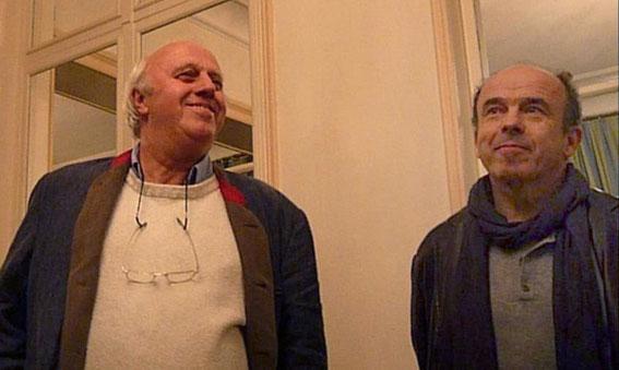 Patrick Belliard, le fondateur du choeur Ars Viva et Bruno Boterf, l'actuel chef de choeur.