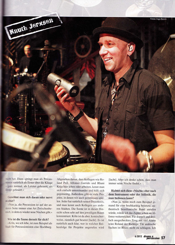 "Interview in der ""drums & percussion"""