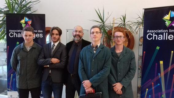 L'équipe de Seconde MEI, finaliste du Challenge Destination Entreprise 2017