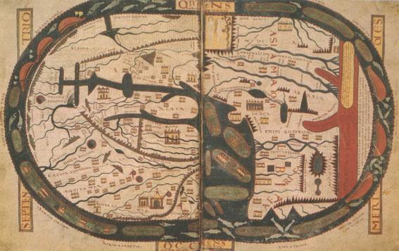 Au Moyen Âge, Jérusalem en orient est le centre du monde