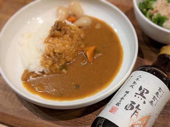 黒酢カレーの写真