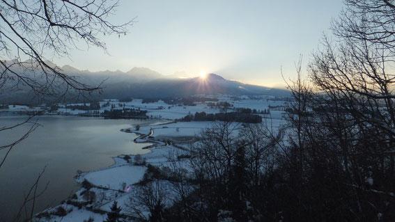 Sonnenuntergang am Breitenberg