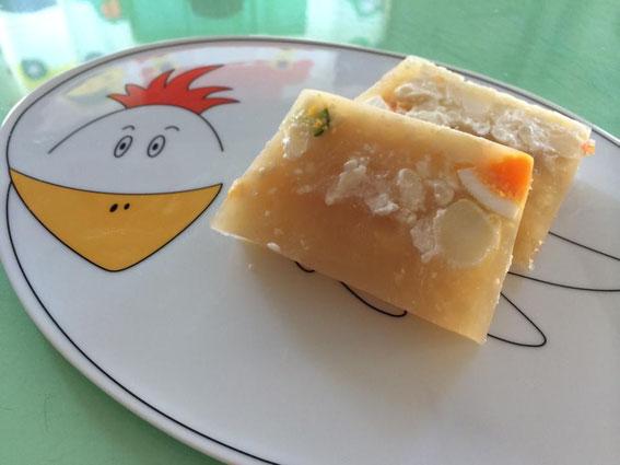 Sさん作:スープ多めのポテサラ寒天テリーヌ