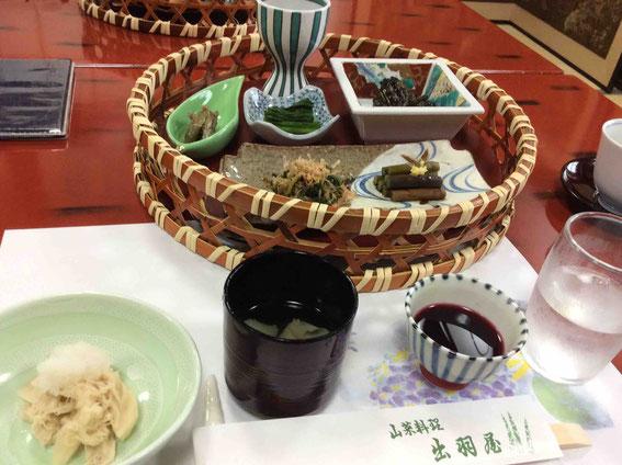 山菜たっぷりのランチ!