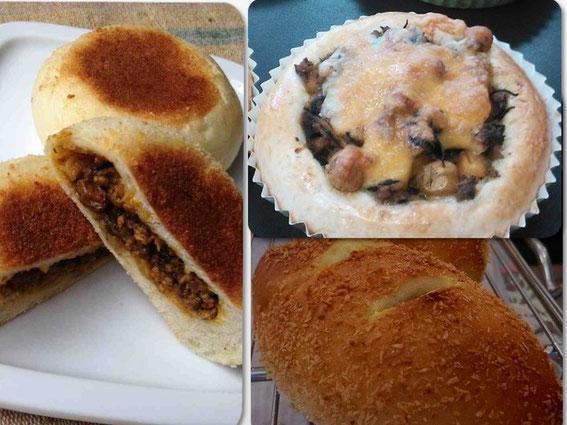 カレーパンと一口にいっても、形も具もいろいろ!それぞれのパン屋さん、パン教室さんの個性が光ります