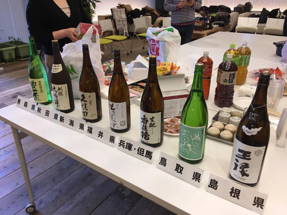 各県自慢の日本酒が勢ぞろい!