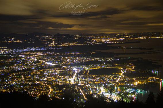 Bregenz bei nacht vom Pfänder