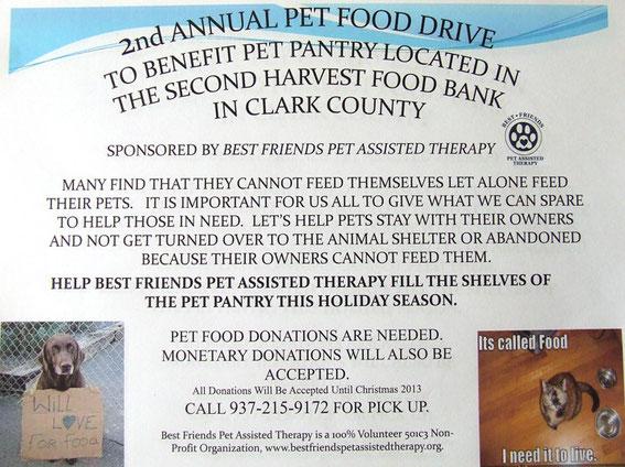 Pet Food Drive 2013