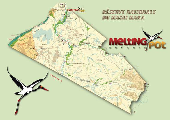 Carte de Masaï-Mara