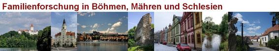 Familienforschung in Böhmen, Mähren und Schlesien