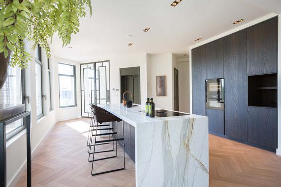 Calacatta Borgini marble luxury kitchen