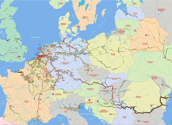 Veneilya Euroopan Sisavesilla Marinerit