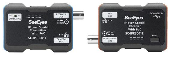 同軸LANコンバーター、PoE ネットワークカメラ用 同軸 TLCモデム SC-IPC3001E 製品写真02