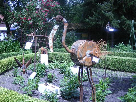 Ausstellung im Bauerngarten