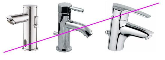 unpassende Wasserhahnformen