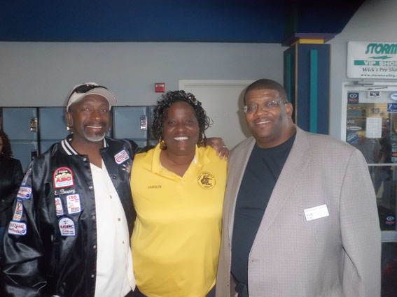 Ricky, Carolyn with TNBA President Gregory Green in Dallas