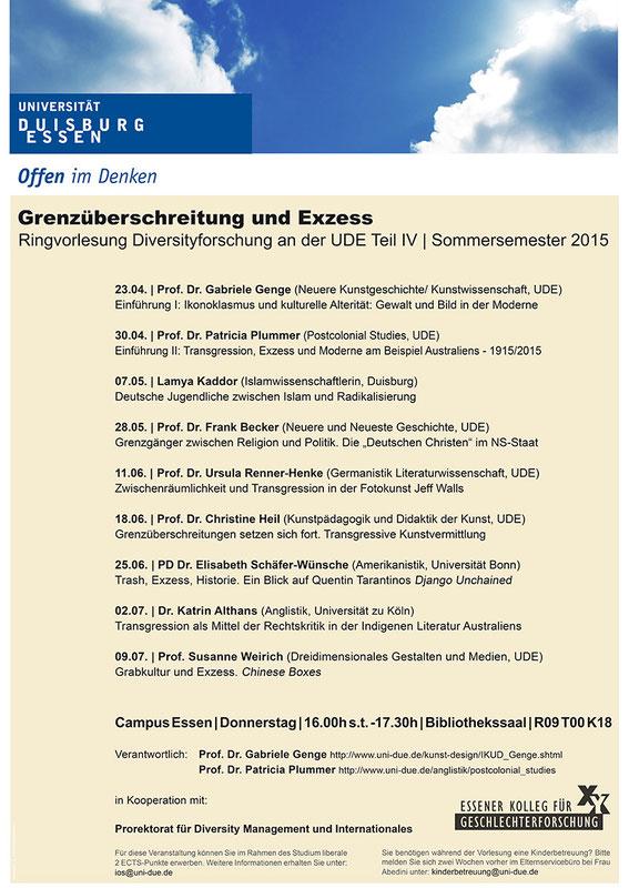 Konferenzen / Vortragsreihen - Kunstwissenschaft Essen