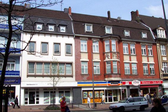 Häuser Osterfelder Straße 1-3 vor der Renovierung.